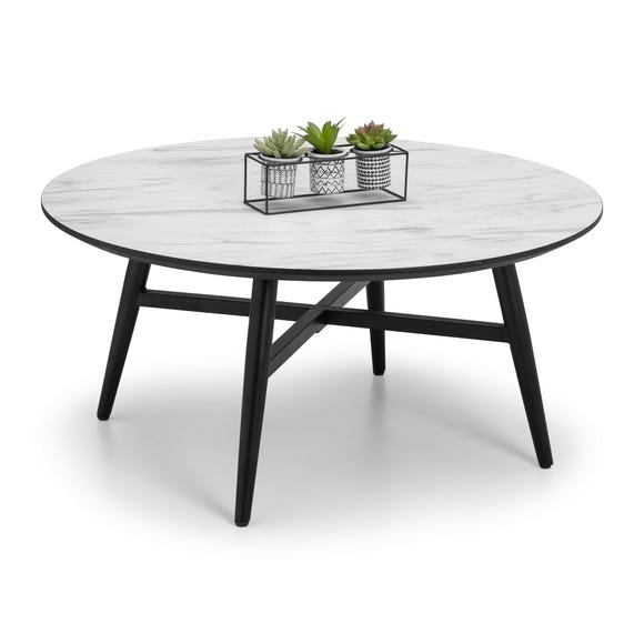 Firenze Marble Effect Coffee Table White