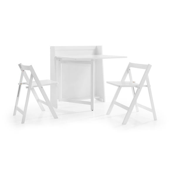 Helsinki Compact Dining Table and 2 Chairs White