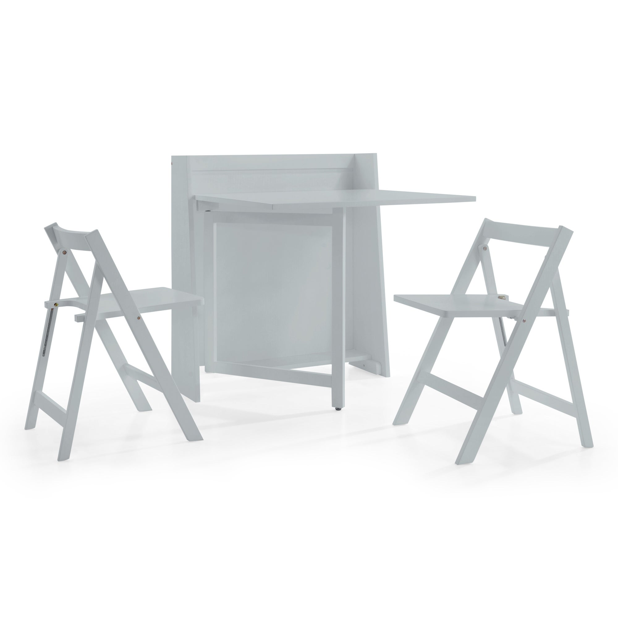 Helsinki Compact Dining Table and 2 Chairs Grey