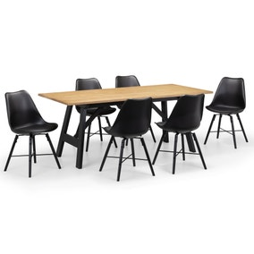 Hockley Dining Table with 6 Kari Chairs