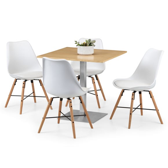 Pisa Oak Dining Table with 4 Kari Chairs