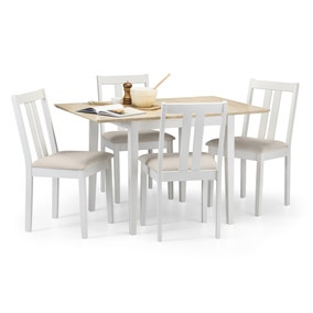 Rufford Two Tone Dining Table and 4 Ivory Chairs
