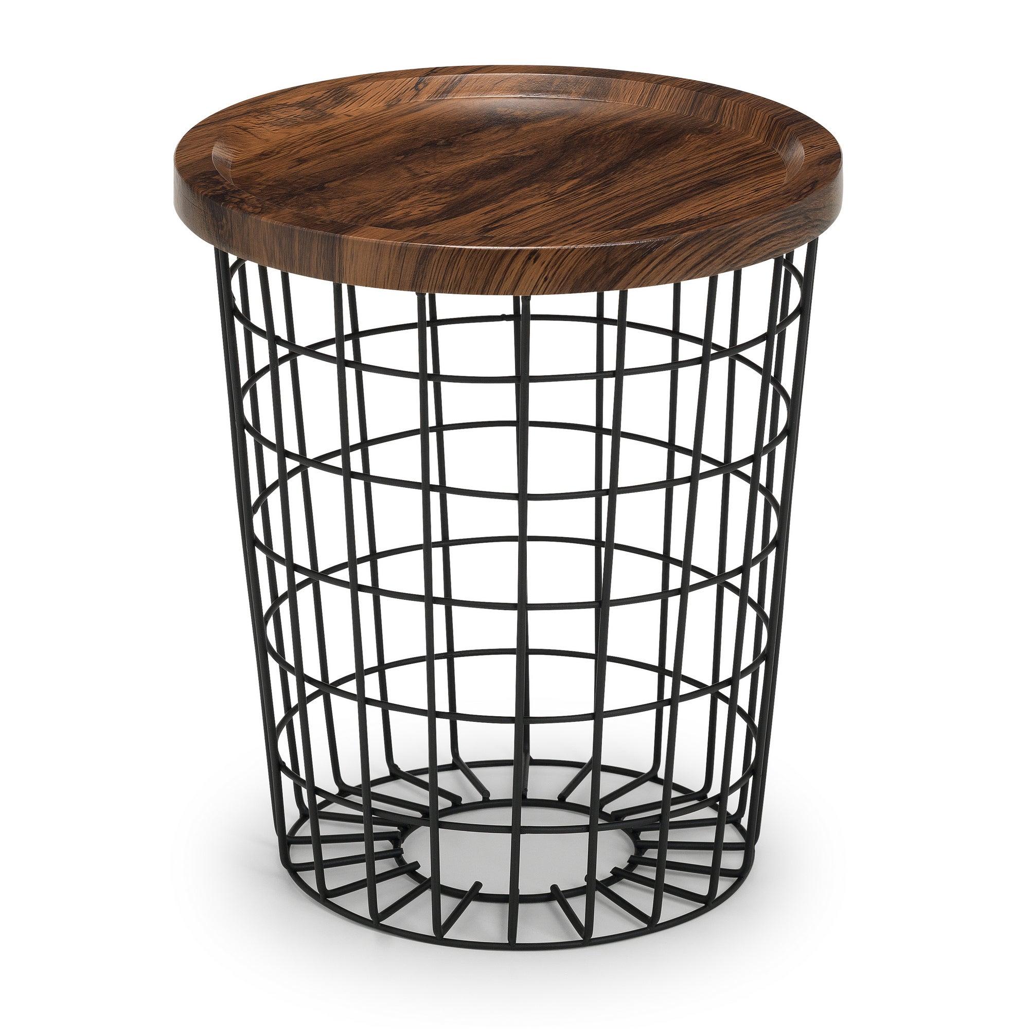 Smithson Storage Lamp Table Black