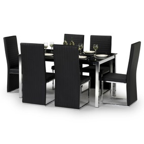 Tempo Dining Table with 6 Tempo Chairs