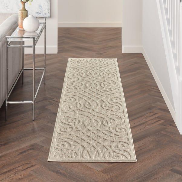 Cozumel Scroll Indoor Outdoor Runner Cozumel Scroll Cream