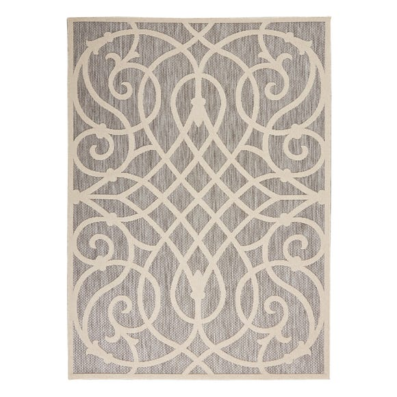 Cozumel Scroll Indoor Outdoor Rug Cozumel Scroll Grey undefined