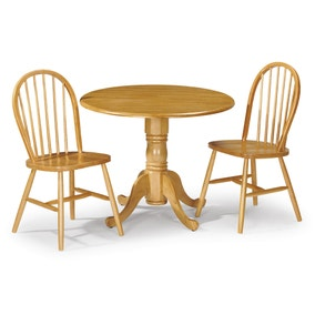 Dundee Dining Table with 2 Windsor Chairs