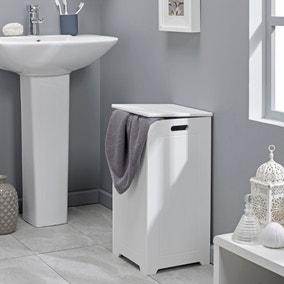 Rimini Style White Slimline Laundry Bin