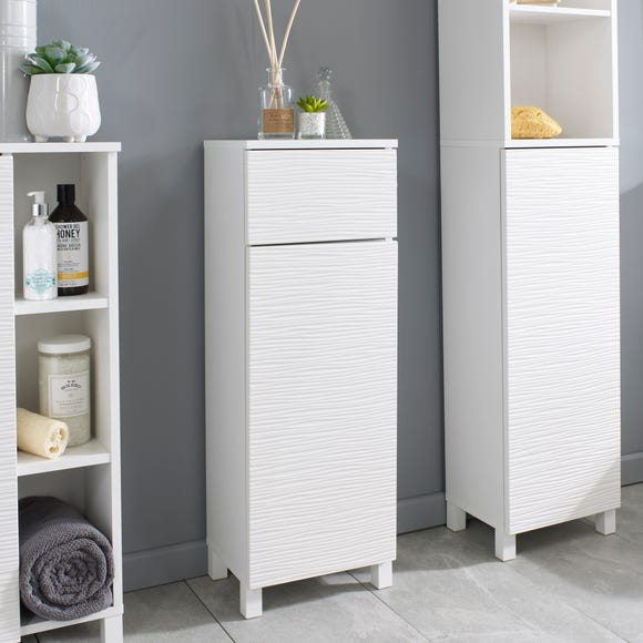 White Wave Floor Cabinet