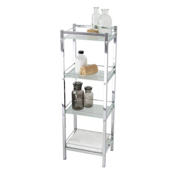 4 Tier Silver Storage Unit Silver