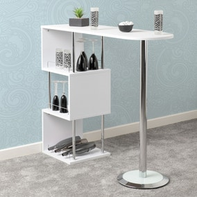 Charisma Bar Table White