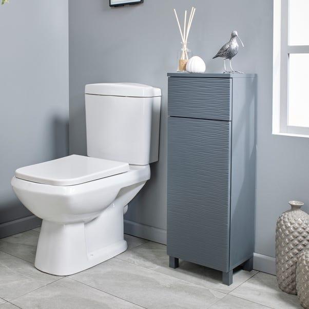 Grey Wave Floor Cabinet