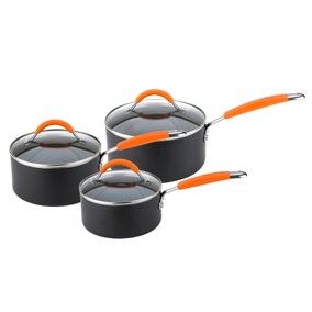 Joe Wicks Easy Release Aluminium Non-Stick 3 Piece Saucepan Set