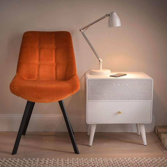 Ralph Smart Bedside Table White