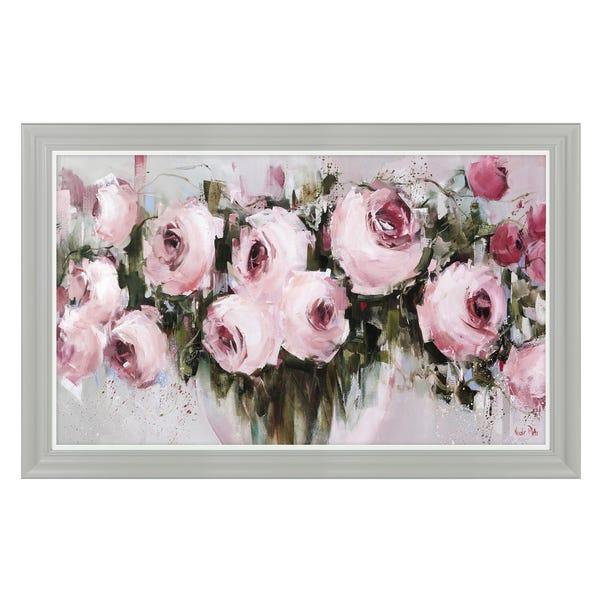 Blush pinks Framed Print Pink