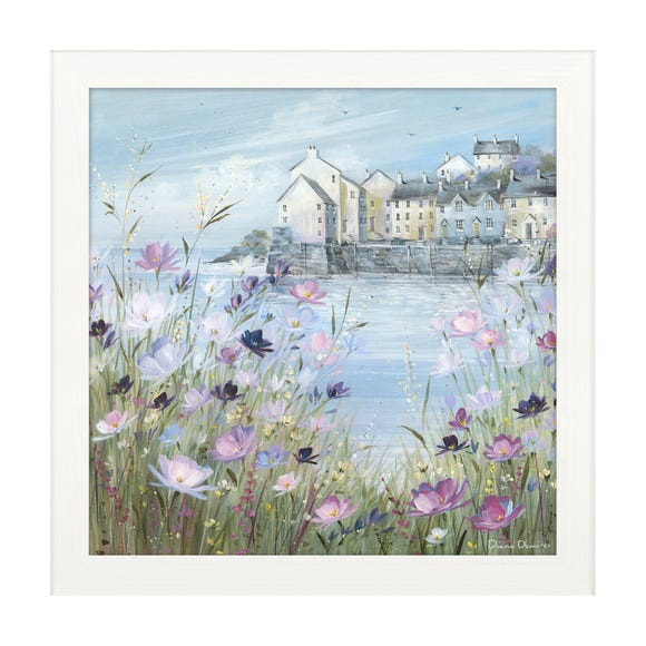 Harbour In Bloom Framed Print MultiColoured