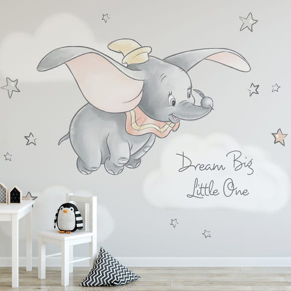 Disney Dumbo Wall Mural Grey