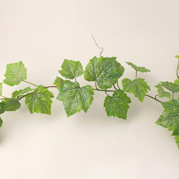 Outdoor Grape Leaf Garland Weather Resistant 180cm Green