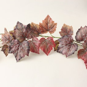 Outdoor Grape Leaf Garland Weather Resistant 180cm