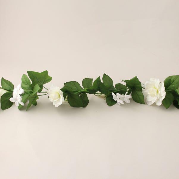 Rose and Blossom Wedding Garland 180cm White