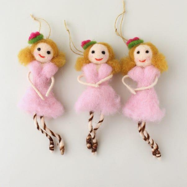 Felt Imelda Fairy Hanging Decoration Pink