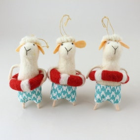 Felt Swimming Lamb Hanging Decoration