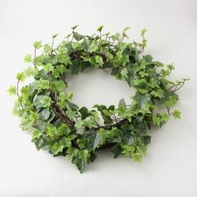 Outdoor Ivy Wreath Weather Resistant 50cm