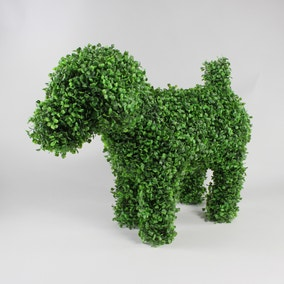 Boxwood Dog Artifical Topiary