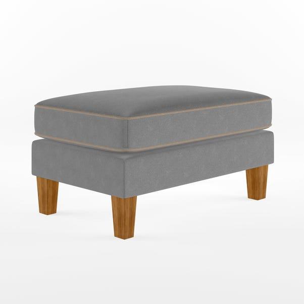 Bowen Chenille Ottoman Grey