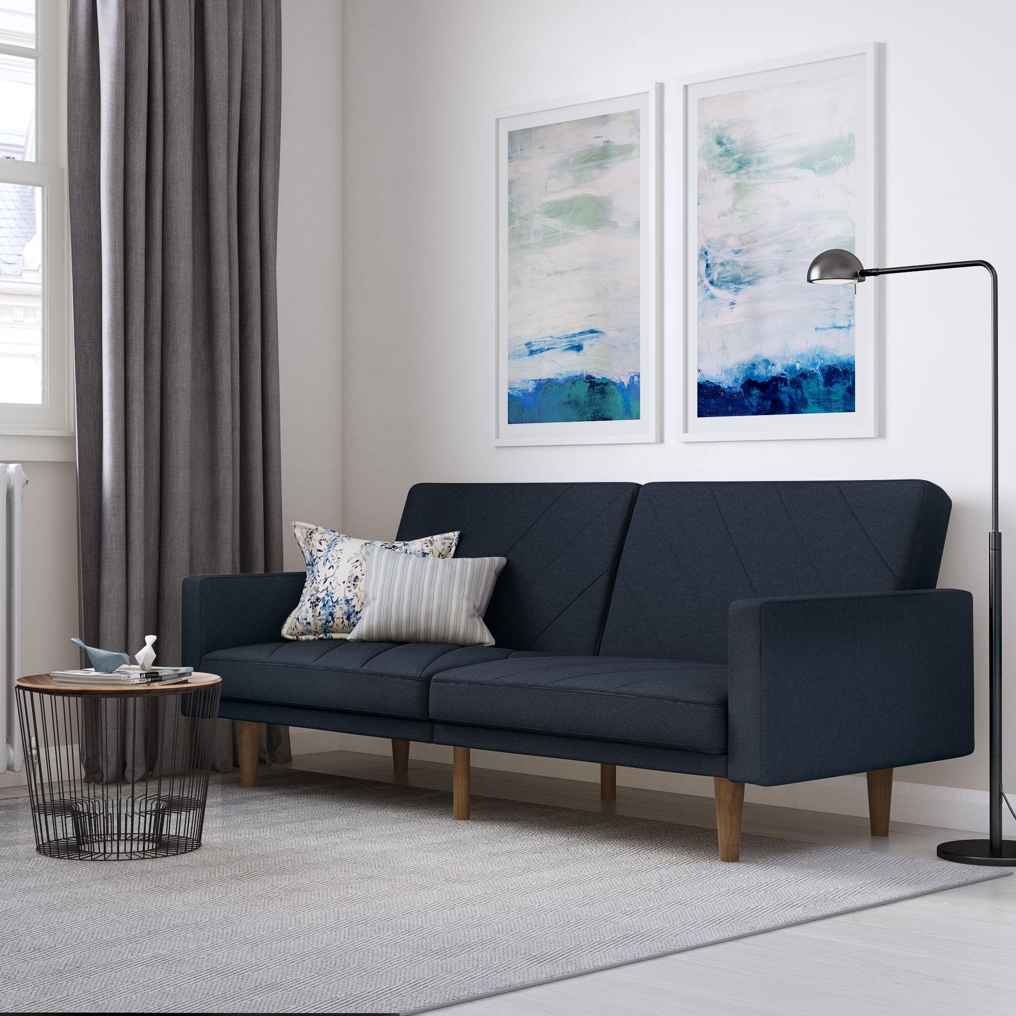 Paxson Linen Sofa Bed Navy