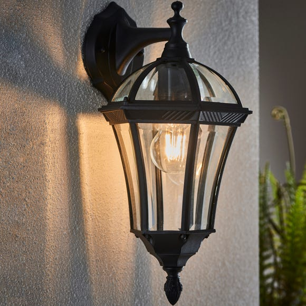 Endon Drayton Outdoor Wall Light Black Black