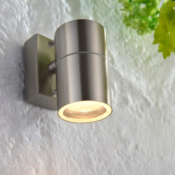 Endon Canon Outdoor Wall Light Steel Steel
