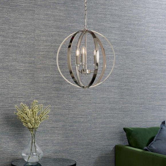 Endon Ritz 3 Light Ceiling Fitting Chrome Chrome