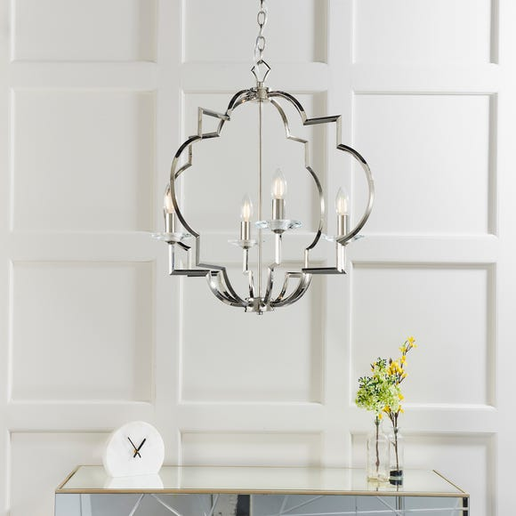 Endon Garland 4 Light Ceiling Fitting Chrome Silver