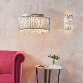 Vogue Galina Crystal Wall Light Chrome