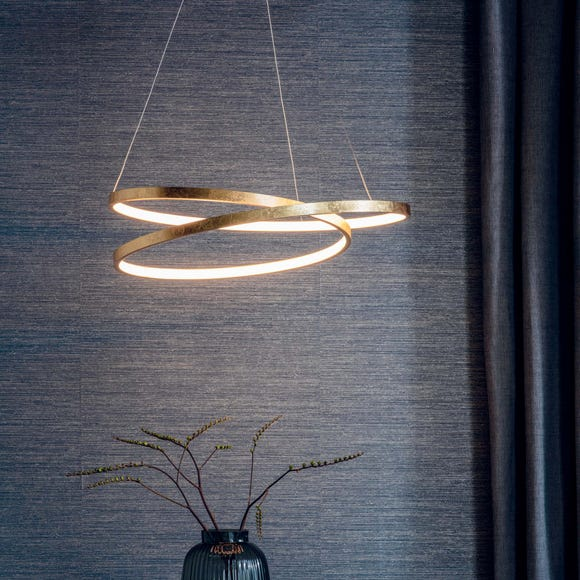 Endon Scribble Integrated LED Gold Ceiling Fitting Gold
