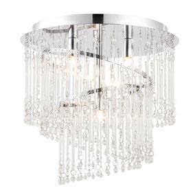 Vogue Camile 4 Light Spiral Flush Ceiling Fitting Chrome