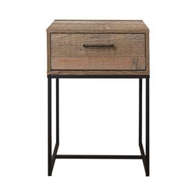 Urban Rustic Slim Bedside Table