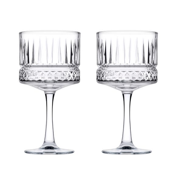 Elysia Cocktail Glasses 2 Pack Clear