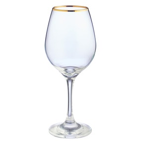 Pack of 4 Gold Band Red Wine Glasses