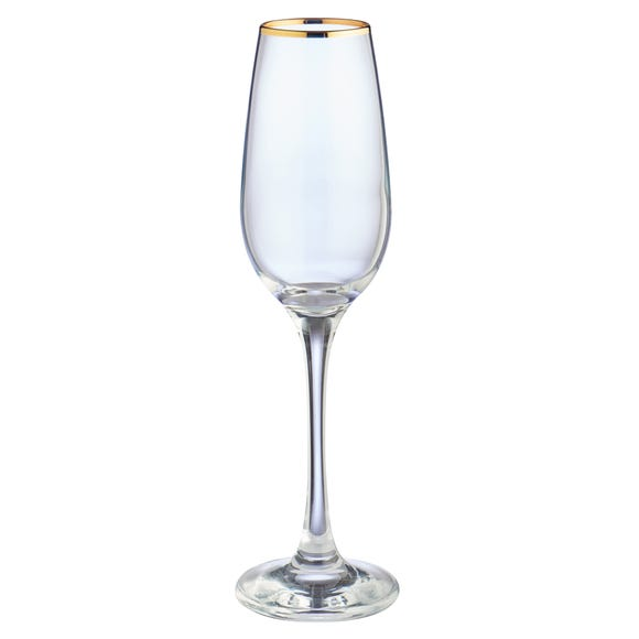 Set of 4 Gold Band Flutes Clear