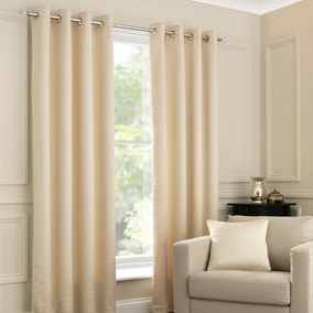 Ojen Oatmeal Eyelet Curtains