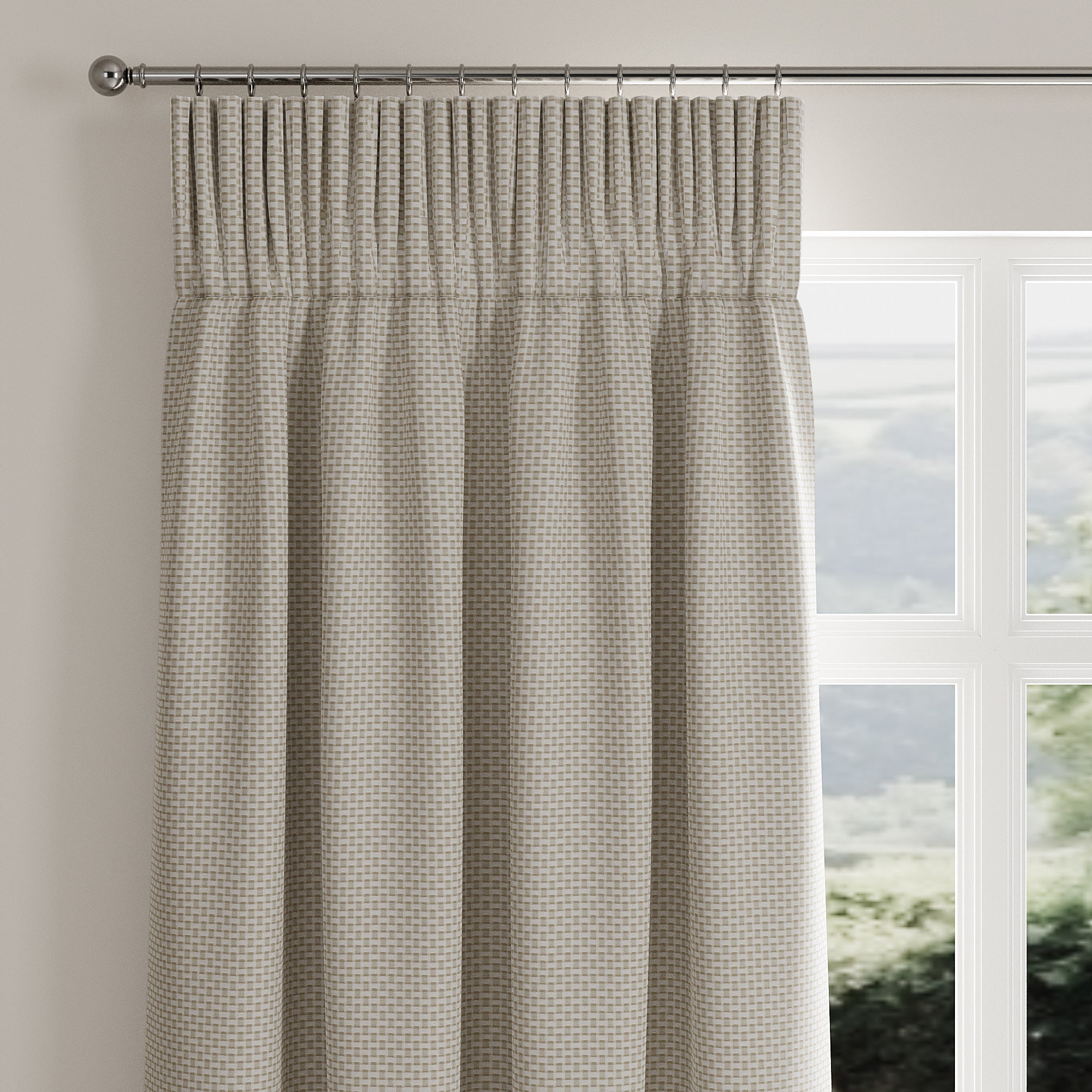 Click to view product details and reviews for Square Weave Natural Pencil Pleat Curtains Natural.