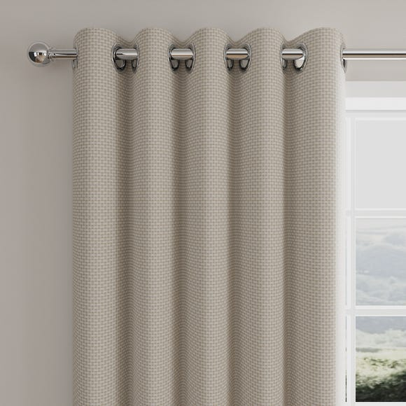 Square Weave Natural Eyelet Curtains  undefined