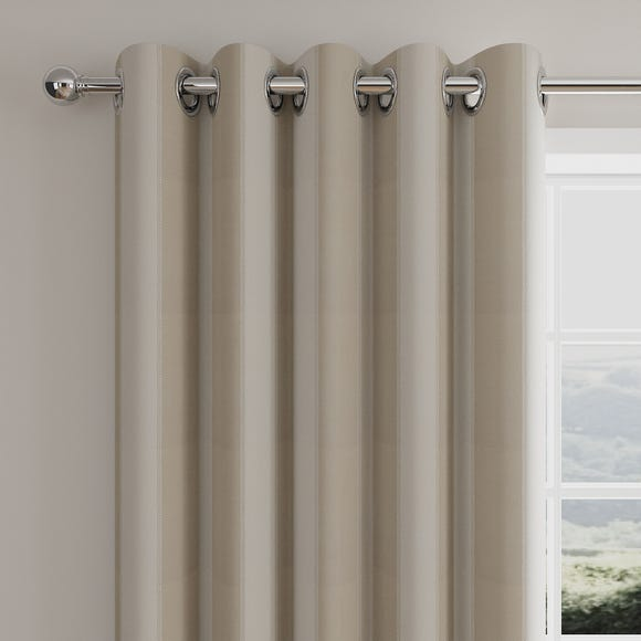 Stitch Panel Natural Eyelet Curtains  undefined