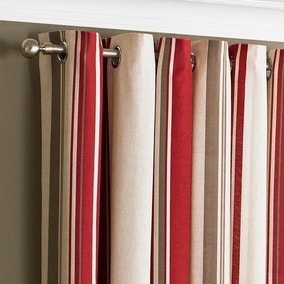 Broadway Raspberry Eyelet Curtains
