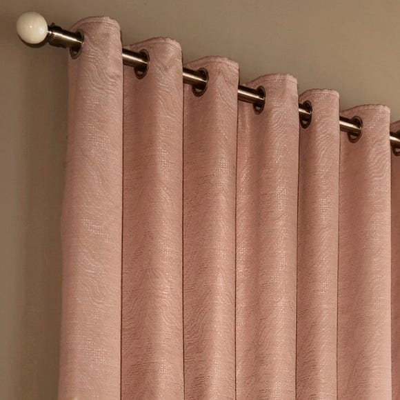 Himalaya Blush Eyelet Curtains  undefined