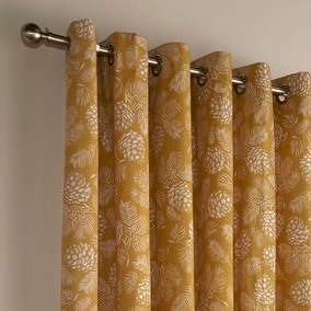 Irwin Mustard Eyelet Curtains