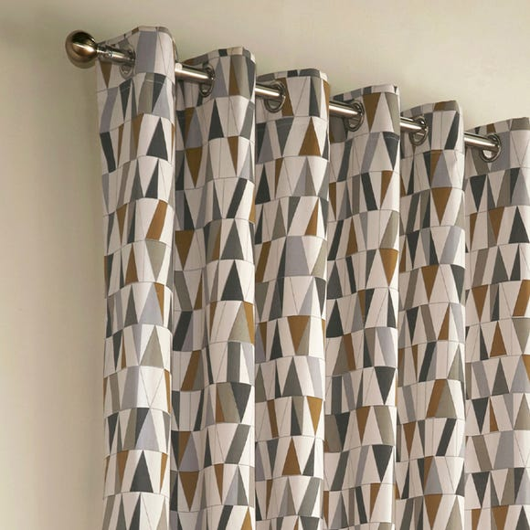 Reno Coffee Eyelet Curtains  undefined