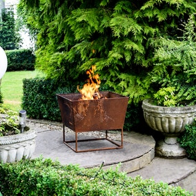Norfolk Rust Iron Fire Bowl